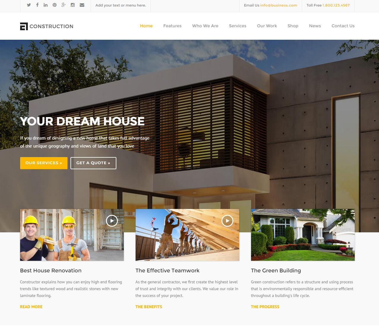 Construction — WP Construction, Building Business — 1 — 10439297