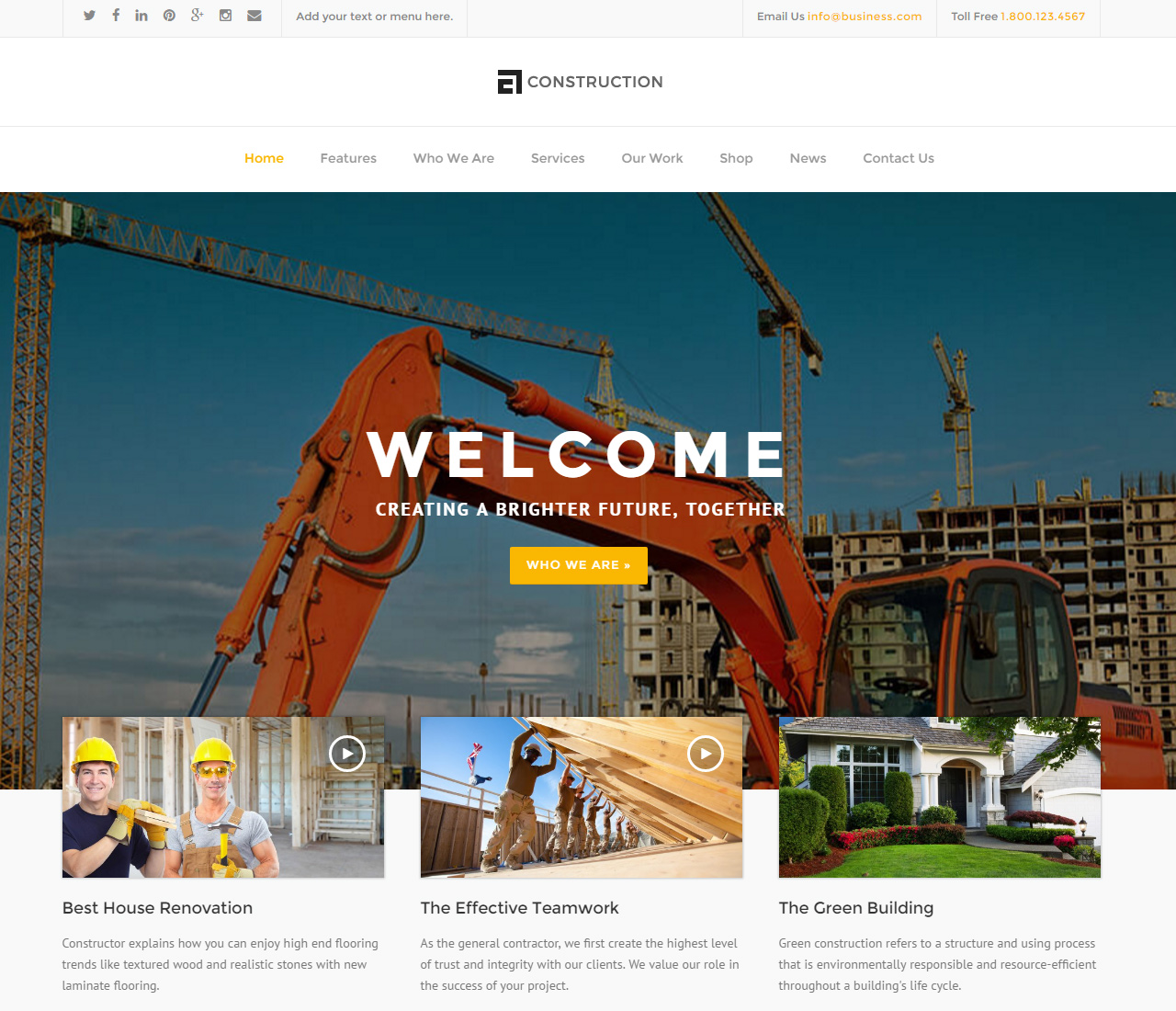 Construction — WP Construction, Building Business — 3 — 10439297