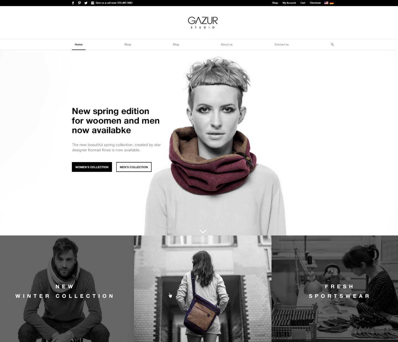 Gazur — сайт магазин для продажи одежды
